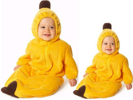 Wholesale Banana style sleeping bag body suit Infant Romper with anti money coated thick Tipi