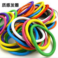 Wholesale 100pcs bag hairband colourful Rope Elastic Girl s Hair Ties Bands Headband hair Strap