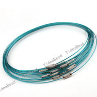 Wholesale 40x New Arrival Blue Steel Memory Wire Charms Necklace Choker Hot Present Christmas gift