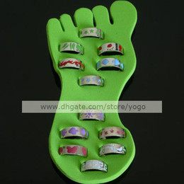 Wholesale Mix Silver Polished Enamel Toe Rings Adjustable Size Women s Men s Body Jewellery Sexy Feet Accessories TR1103