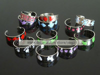 Wholesale Mix Silver Polished Enamel Toe Rings Adjustable Band Body Jewelry TR1103