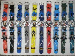 Wholesale Children best Christmas gifts pc quartz Cartoon wishWatches Batman Free Battery