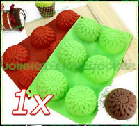 Wholesale New Silicone Flower Cupcake Muffin Mold Cake Pan Soap