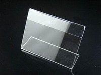 Wholesale Acrylic price tags table card station sign seat license price tags