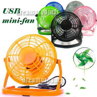 Wholesale USB Mini Fan Portable Desktop Plastic Direction Adjustment Cooling Fan for PC Laptop Notebook