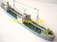 Wholesale Alice papermodel Long CM tanker Transport ship battleship military models