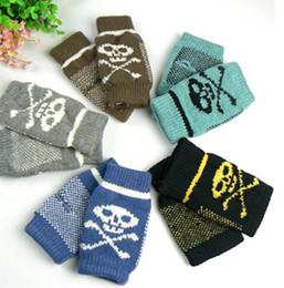 Wholesale high quality cheap gloves warm gloves winter glove human skeleton Gloves half finger gloves