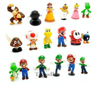 Wholesale Super Mario Bros PVC Figure topper Super Mario nds Luigi Peach yoshi figures