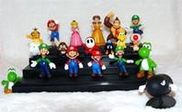 Super Mario mario figures - Retail set Super Mario Bros yoshi Figure dinosaur toy Super mario yoshi figures PVC