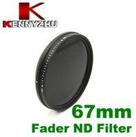 Wholesale 67mm Fader Neutral Density ND Filter For DSLR Camera Lens Multi coated Glass Adjustable ND2 To ND400