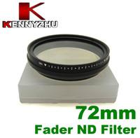 Wholesale Adjustable Pro mm Fader Neutral Density ND Filter For DSLR Lens Multi coated Glass ND2 To ND400