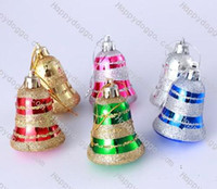 Wholesale Christmas Ornaments Plastic Jingle Bells Set pieces Mixed Order G018