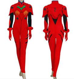 Japanese Cartoon Anime cosplay Evangelion Costume Cosplay Halloween Party Asuka Plugsuit Anime Cartoon uniform + glove +accessories