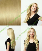 Wholesale Thickest Remy Clip in on Hair Extension Remy human hair quot g set bleach blondle