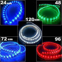 Wholesale 50PCS CM Car LED Flexible Strip Car Light Strips Waterproof V Car Blue Light Lamp