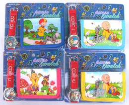Hot 10 sets Boy likes Cartoon Watches And Wallet Sets Gift Wholesale