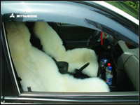 Wholesale 2pcs Genuine Australia Sheepskin Car Seat Cover white