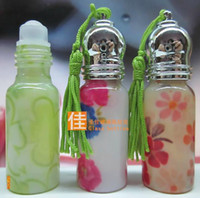 mini glass bottle - Glass Empty Perfume Roll On Bottle Sample Mini Container Kit Roller Ball Mix Colour ml