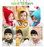 Girl Winter Newborn Hat 2011 new fashion baby knit caps hfairy Wind bucket hat baby hats Baby warm hats Children winter cap