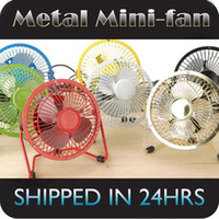 Wholesale Metal USB Mini Fan Portable degree rotation Desktop Fan for Notebook Laptop PC Chrismas gift