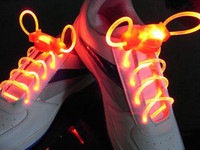 Wholesale 100pairs hot selling model LED Flashing shoelace light up shoe laces Laser Shoelaces