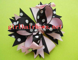 wholesale-baby girl grosgrain ribbon bows hairbows Boutique hair clips good quality new 100pcs lot