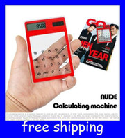 Wholesale Touch Screen transparent calculator office windows calculator solar dhl