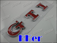 ABS   200pcs Lot Hot GTI VW Chrome Car Badge Emblem Badges Sticker Golf Letter Brand new never used mjkd