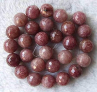 Wholesale Strawberry Quartz Faceted Round Beads mm inch