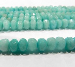 Wholesale 5x8mm Faceted Brazilian Aquamarine Loose Beads
