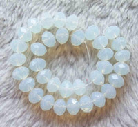 Wholesale Glass Moonstone Faceted Rondelle Beads x10mm inch