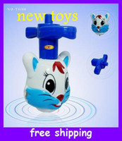Wholesale new rabbit flash music top beyblade d gyro kids toys gifts