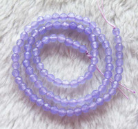 Wholesale Charming Purple Jade Faceted Round Beads mm inch