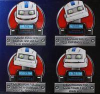 Wholesale Mr Clock Radio Robotic Alarm Clock Radio SoundBox Mp3 player working mouth LED lit eyes shaking head
