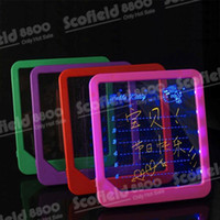 Wholesale Mix Color LED Message Board Illuminated Tablet Writing Board Advertising Boards Creative Novelty
