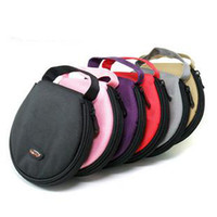 Wholesale New color Canvas Portable CD DVD Storage Bag Case wallet Car CD clip Mark