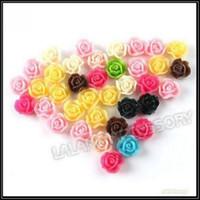 11x11x7mm flower beads - Flatback Resin Rose Flower Beads Assorted Flat Back Flower Glue Rose Beads mm