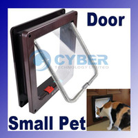 Wholesale Cat Door Kitten Small Dog Pet Way Flap Lock Safe Lockable Pet Supplies