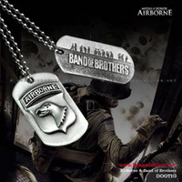 Wholesale Bahamut Band of Brothers WWII Logo Dog Tag Necklace Pendant
