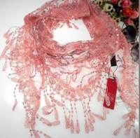 Wholesale Fashionable bright flower petals triangle shawls