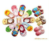 Wholesale Nissen Baby shoes Children s Shoes Cotton Non slip Bottom Cartoon Boat Socks