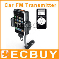 Wholesale Car Kit Charger FM Transmitter Holder for Iphone G mp3 mp4 Video
