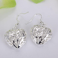 Silver Middle Eastern Unisex Wholesale - lowest price Christmas gift 925 Sterling Silver Fashion Earrings E22