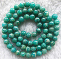 16inchs amazonite round beads - Green Round Russia Amazonite Beads mm inchs