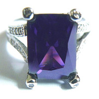 Wholesale High Quality EXCELLENT GORGEOUS NATURAL CT TANZANITE KT WHITE GOLD GEMSTONE RING TW004