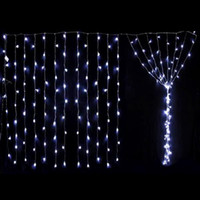 Wholesale 6M x M LED String Fairy Curtain Lights Christmas lamps V V AU UK EU US plug
