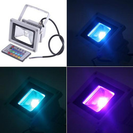 Time-limited New 110-240v 240v 110v White Warm White Cold White Foco Led Exterior Waterproof 20w Rgb Led Flood Light + Remote Control