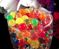 11 colores perlas de agua mágica lodos de agua cristalina del suelo de la jalea de la planta, deco boda / fiesta