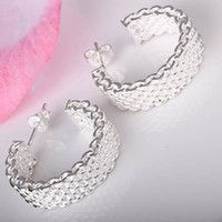 Wholesale lowest price Christmas gift Sterling Silver Fashion Earrings E39