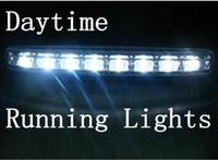 Cheap On sales Car 2 x White 8LED DRL Daytime Running LED Light Day Driving Fog Universal Light